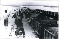 salineros en Ibiza a principios del siglo XX