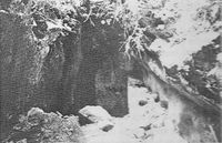 'el agujero del Castellá' que vería Clapés (foto J. R. 1986)