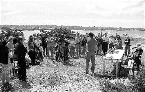 Es Campament de Formentera, en la Savina, fue el escenario de la celebración del 75 aniversario de la Segunda República (foto C. C.)