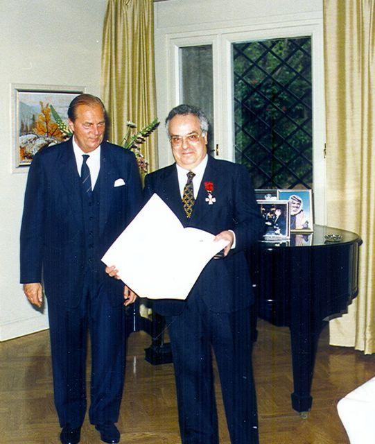 José Barral Comendador de la 'Orden de El León'      (foto Gerardo Roel)