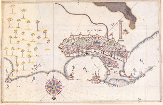 Alejandría en una mapa turco del siglo XVI