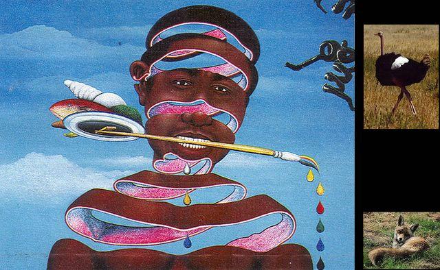 'Me gusta el color' pintura del congoleño Chéri Samba