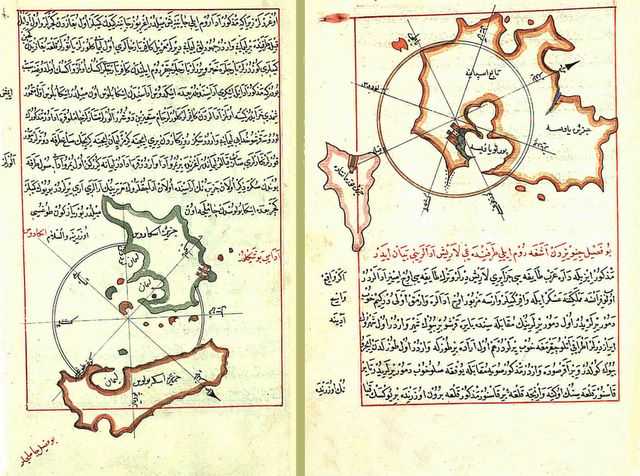dos cartas de marear otomanas de 1521