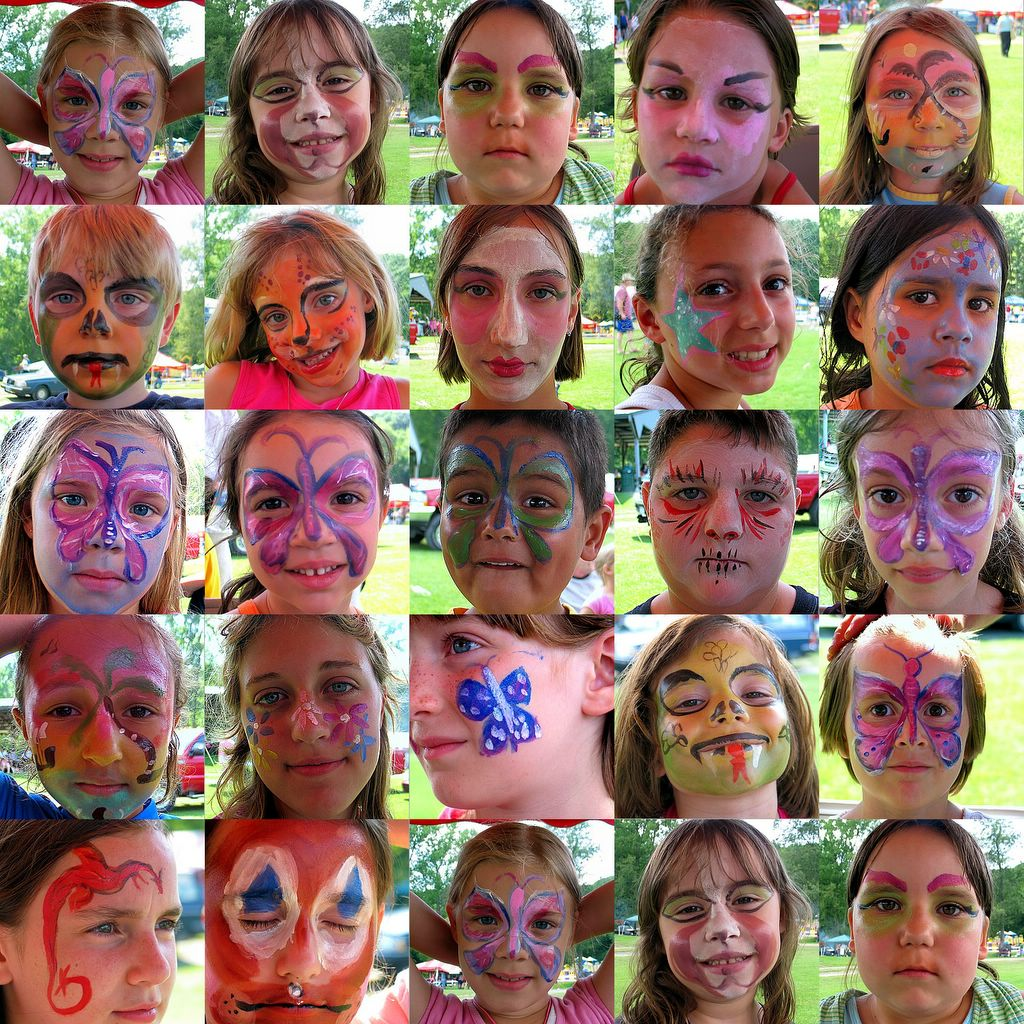 Face Painting Butterflies Youtube