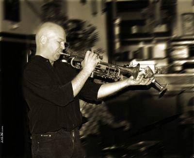 Hans Leeuw on trumpet, ©Dreaming in Neon 2006