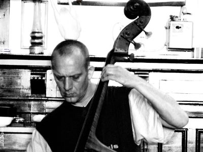 Jacko Schoonderwoerd on bass; ©Dreaming in Neon 2006