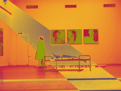 subsonic solar flare freezing a corpse; ©Dreaming in Neon 2006
