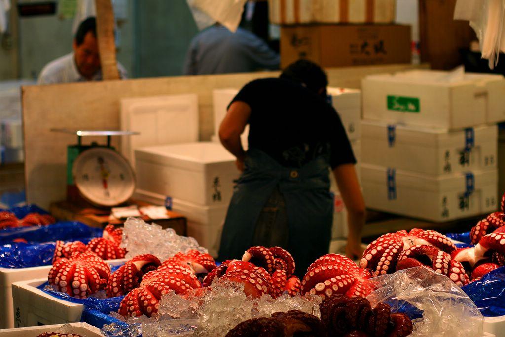 Ben in japan tokyo ginza and tsukiji for Sushi grade fish market