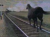 Horse And Train, Alex Colville