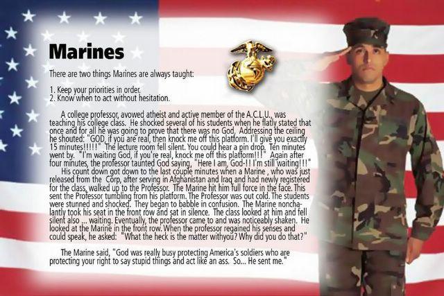Llano Estacado: Marine Corp vs. Liberal Professors! Hurrah!