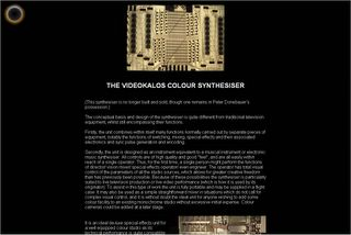 Peter Donebauer - The Videokalos Colour Synthesiser