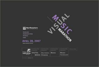 VISUAL MUSIC MARATHON EVENT 2007 - Boston