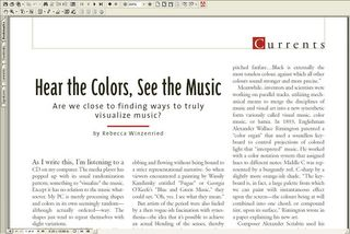 Article on visualising music by Rebecca Winzenried
