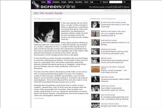 Screenonline - 1920s and 1930s Avant-Garde Film