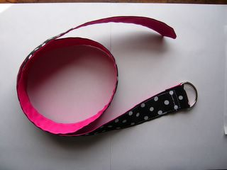 Pink Polka Dot Ribbon Belt