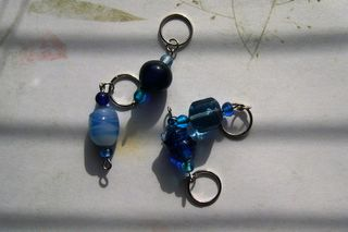 Deep Blue Stitch Markers