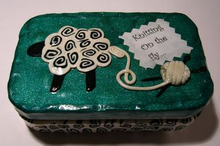 Sheep Knitting Tin