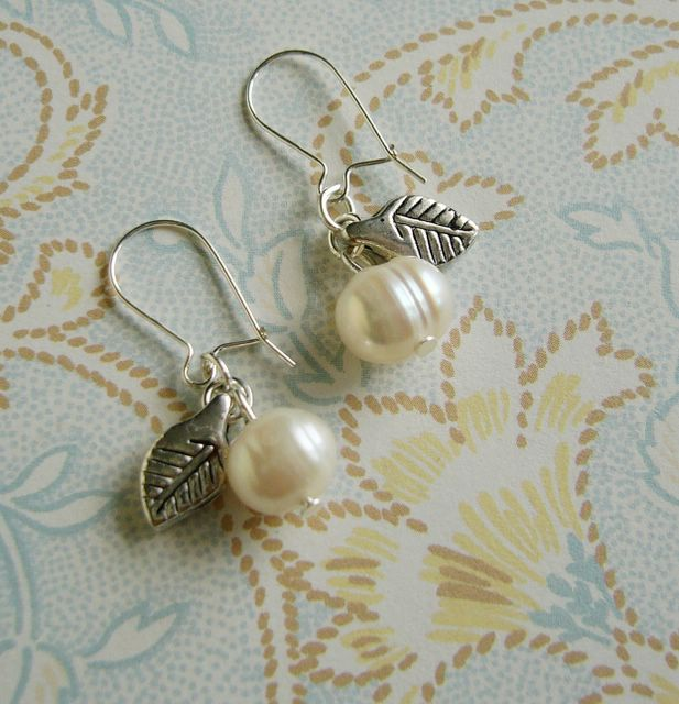 Pearl Apple Earrings