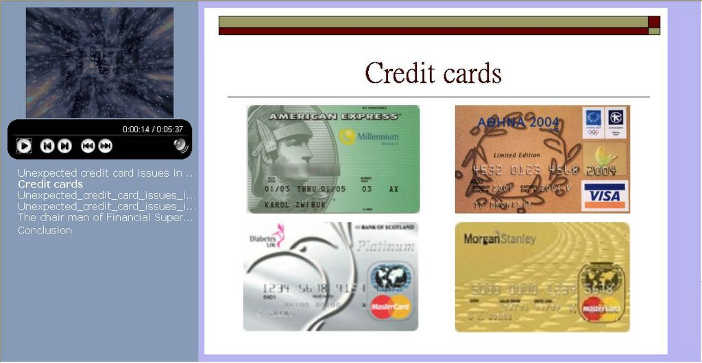 persuasive speech on credit cards
