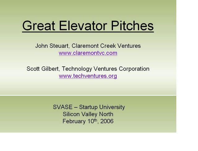 entrepreneurship blog: great elevator pitches: svase presentation, Powerpoint templates