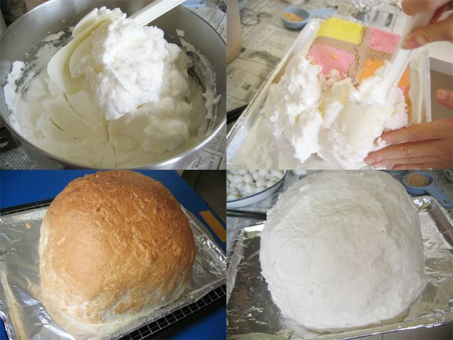 Making Baked Alaska