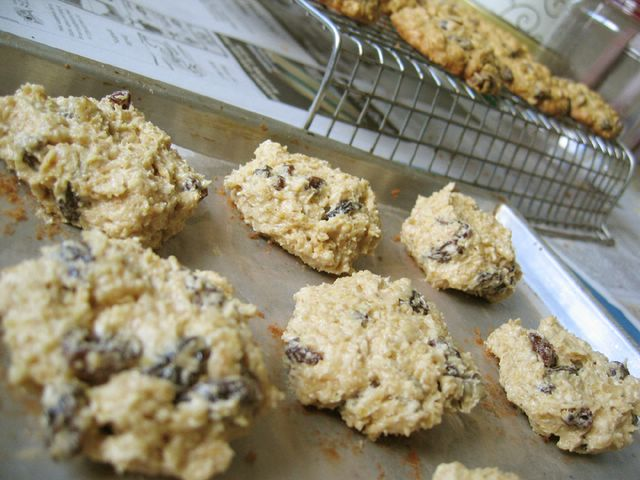 oatmeal cookies - before baking