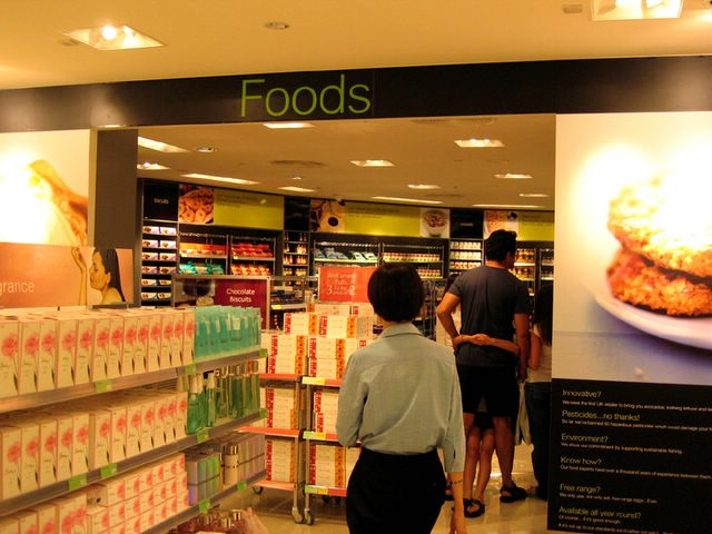 Marks and Spencers food section