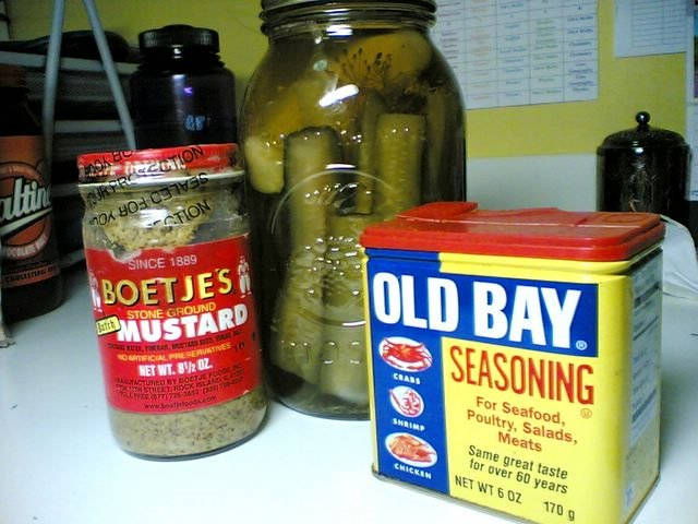 Pickles, Mustard and Old Bay
