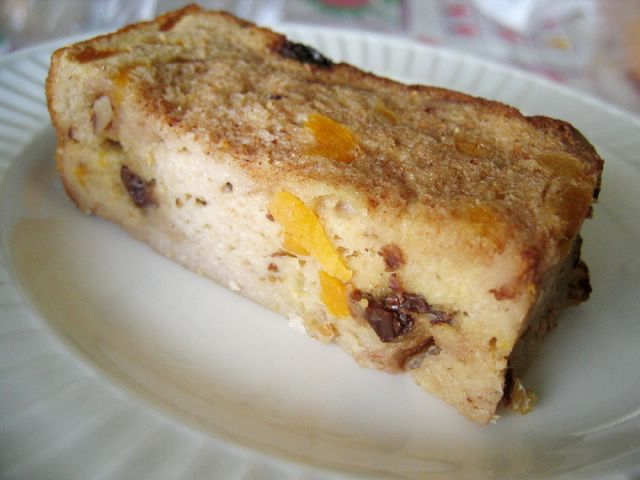 a slice of bread pudding