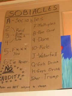 Sociables Drinking Game