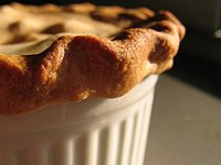 beef pot pie with flaky pastry topping
