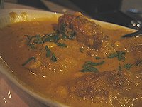 tantra's india's oven, brewntwood, ca - malai  kofta (vegetable croquettes)