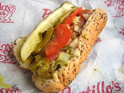 Portillos hot dog