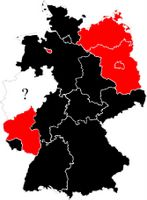 states under SPD oder CDU rule in Germany