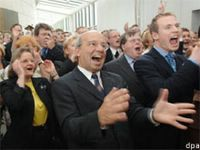reaction by voters and campaigners at the CDU branch office (source: dpa)