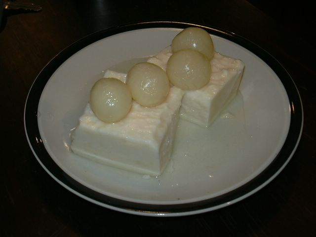 almond jelly with longan