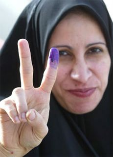 Iraqi Woman Voter, Jan 2005