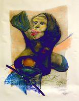 Pencil, Acrylic, pastel on paper, by Eric Keast; Broken Vulture Art.