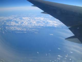 Somewhere over the North Sea