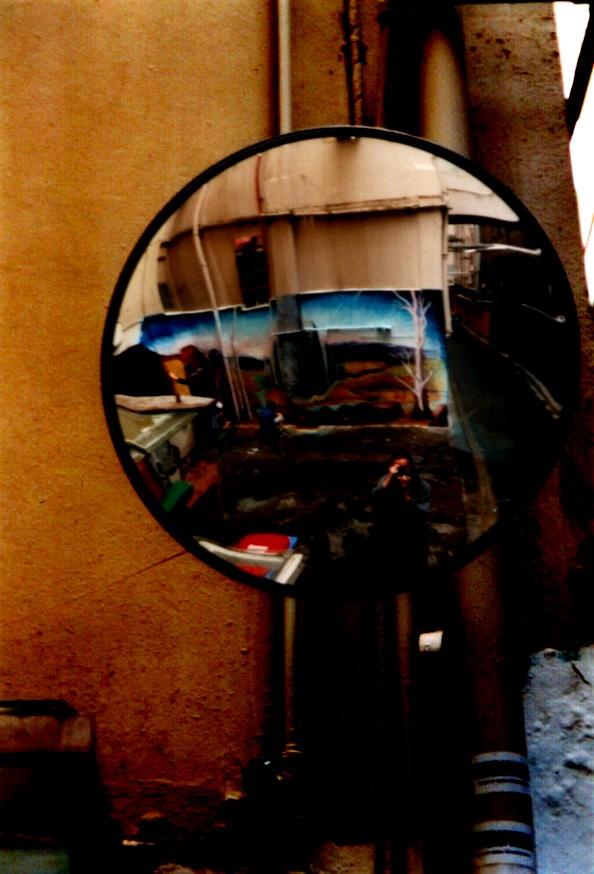 Baptist Place, convex mirror