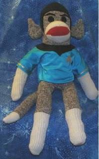 A Vulcan monkey made from a sock is highly illogical.