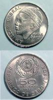 Antiga moeda de 50 escudos, com imagem de Amílcar Cabral