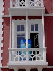 Obra de arte na sacada do Palácio da Cultura Ildo Lobo