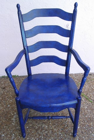 Adrian s Embellishments Cobalt Blue Kitchen Chair