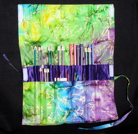 Adrians Embellishments Knitting Needle Fold And Roll Bag Free