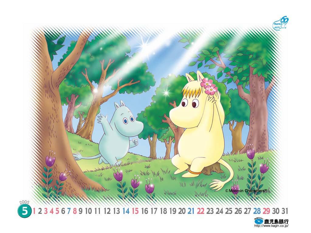 Moomin Calendar Wallpaper: May 2005