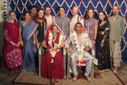 American friends at Indian wedding