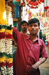 """Garlands at Chennai market"""" border="""