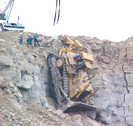 This Bulldozer, a Caterpillar D11, has a normal operating weight of
