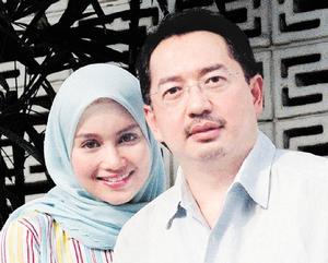 PASANGAN Mohamed Nazim Tun Razak dan Norjuma Habib Mohamed yang akan